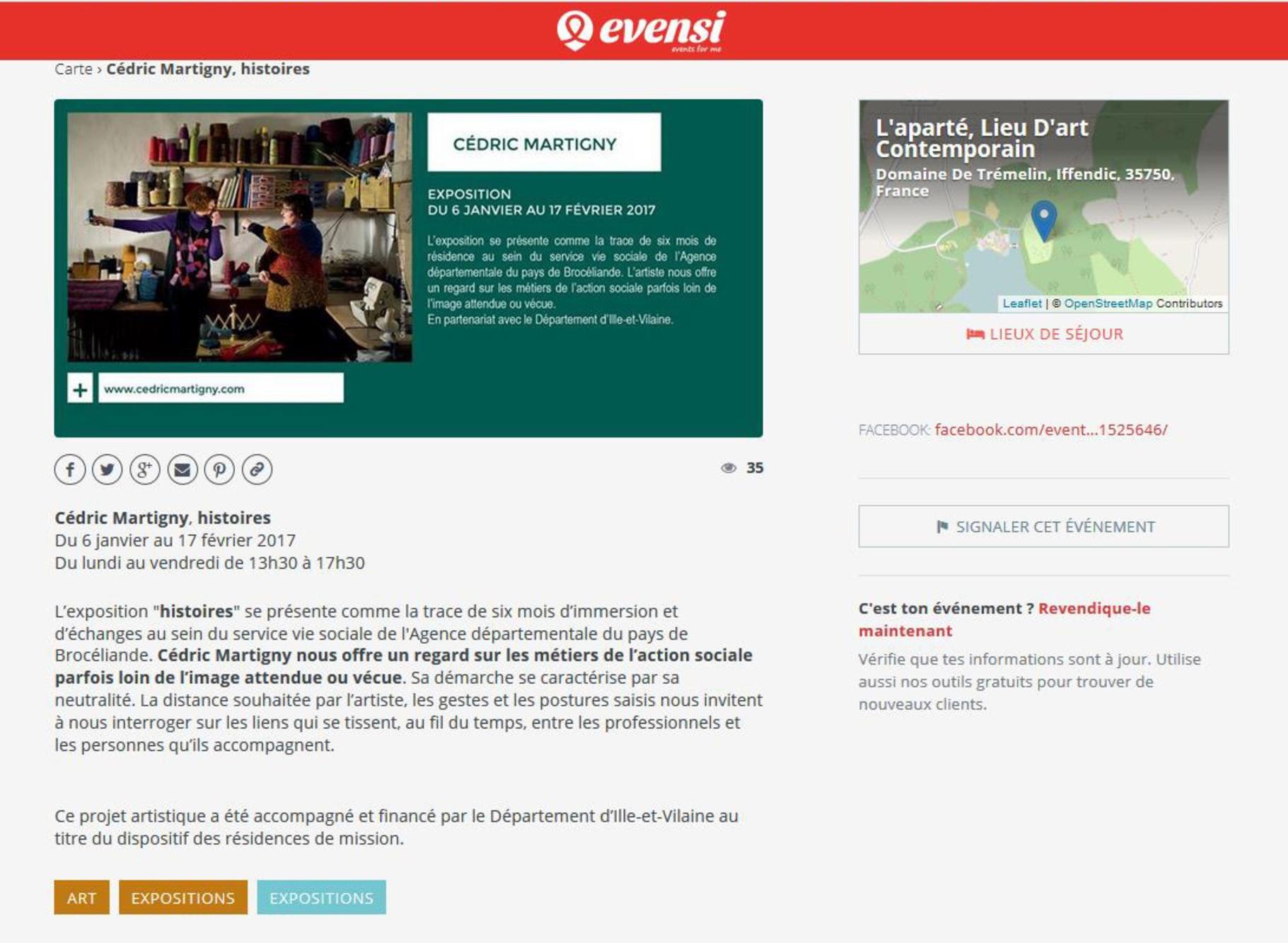 Site web Evensi