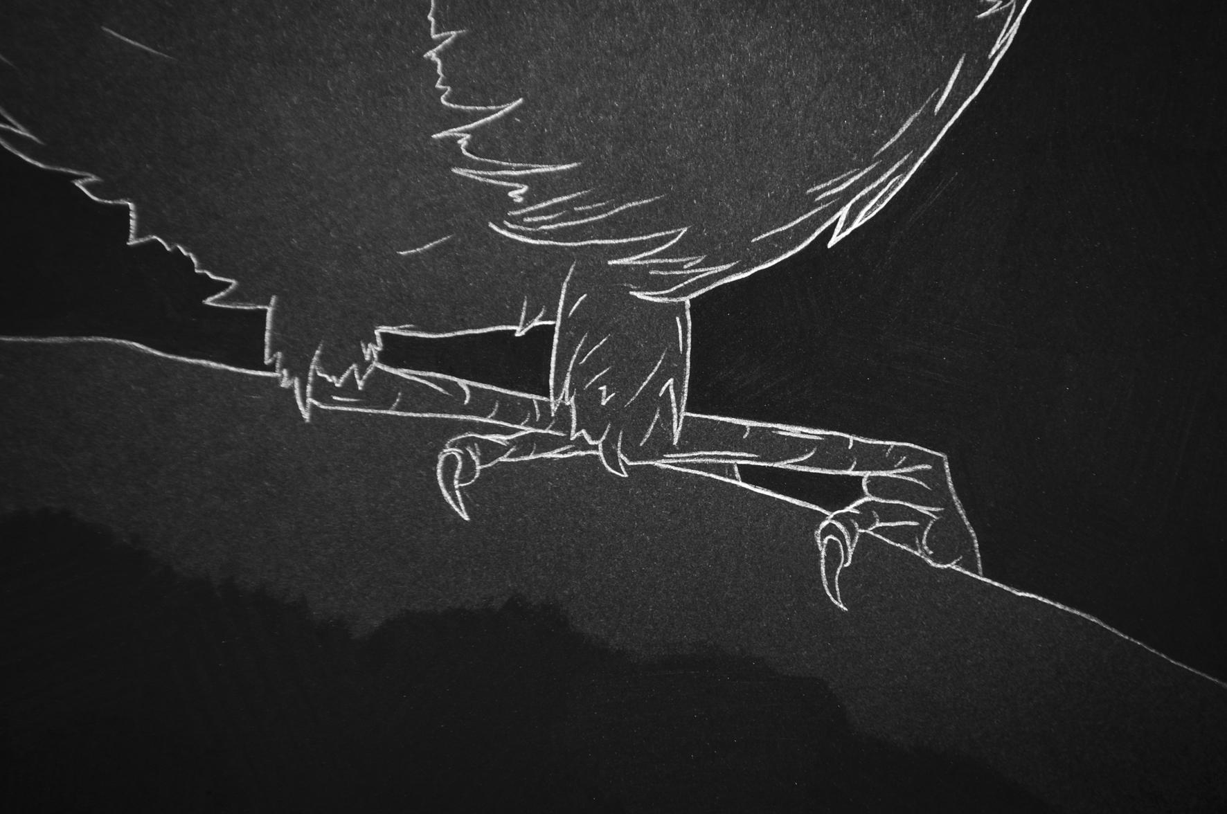 Carlos Bernal, Demeurer à (détail), 2016. Série de dessins, fusain et mine de plomb sur papier Clairefontaine Maya 120 gr., 50 x 35 cm env.