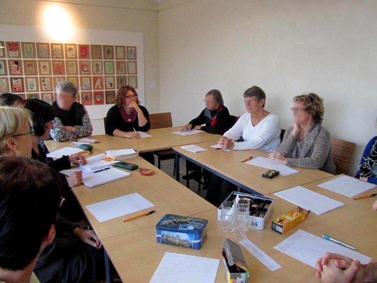 Atelier d'écriture mené par Claudie Yvon à la bibliothèque La Parchemine de Pleumeleuc