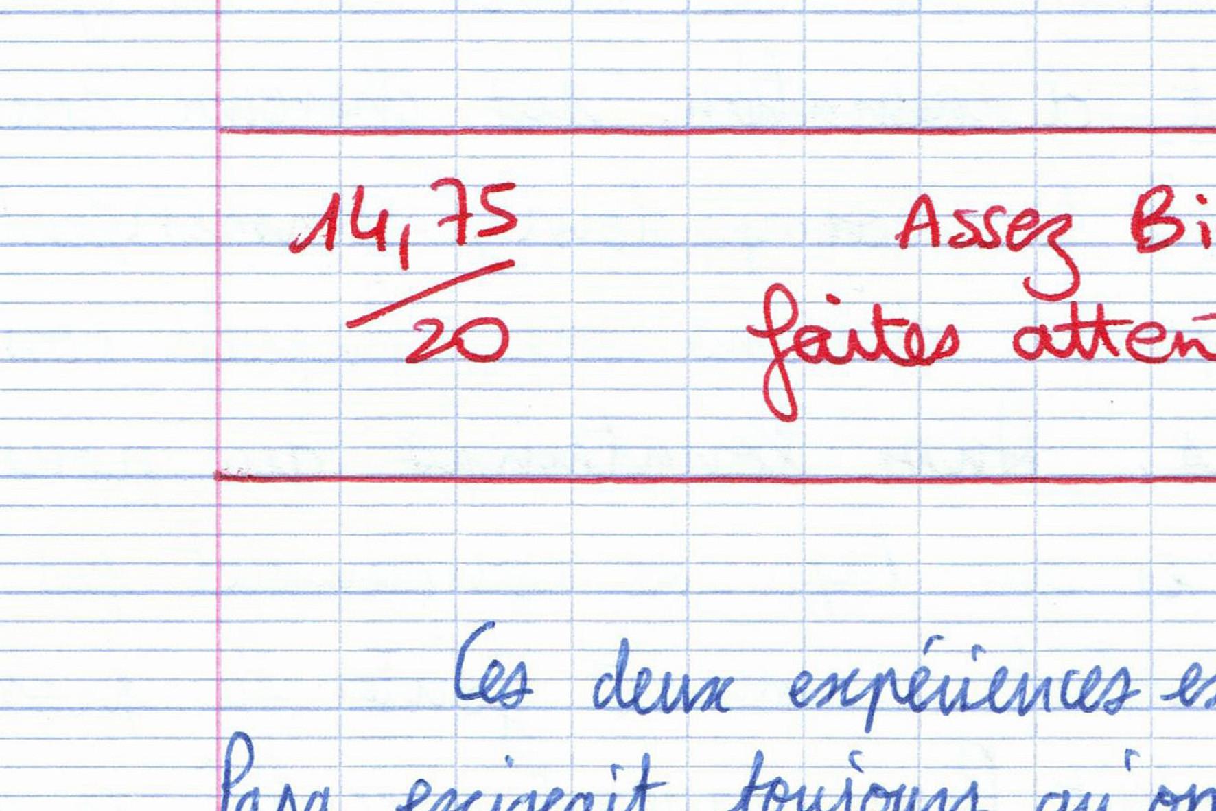 Thomas Tudoux, 14,75/20 (détail), 2014.