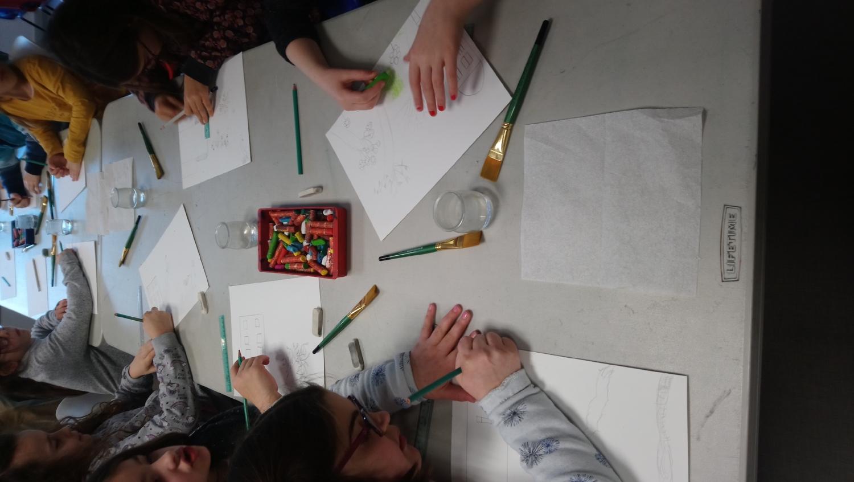 Visite-atelier autour de l'exposition de Dorian Cohen - CE1-CE2 de l'école privée Notre-Dame de Montfort-sur-Meu
