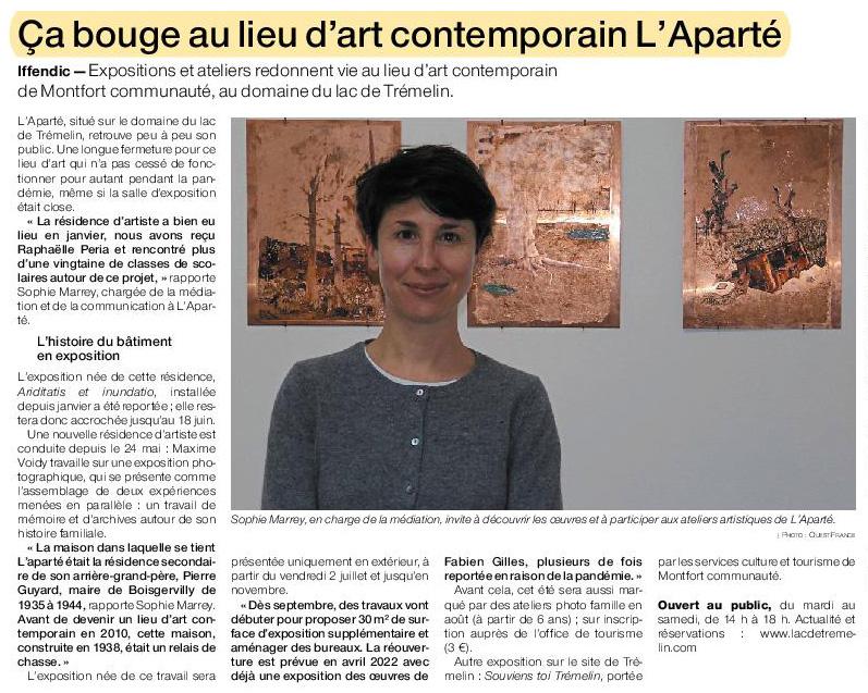 Article Ouest-France du 9 juin 2021