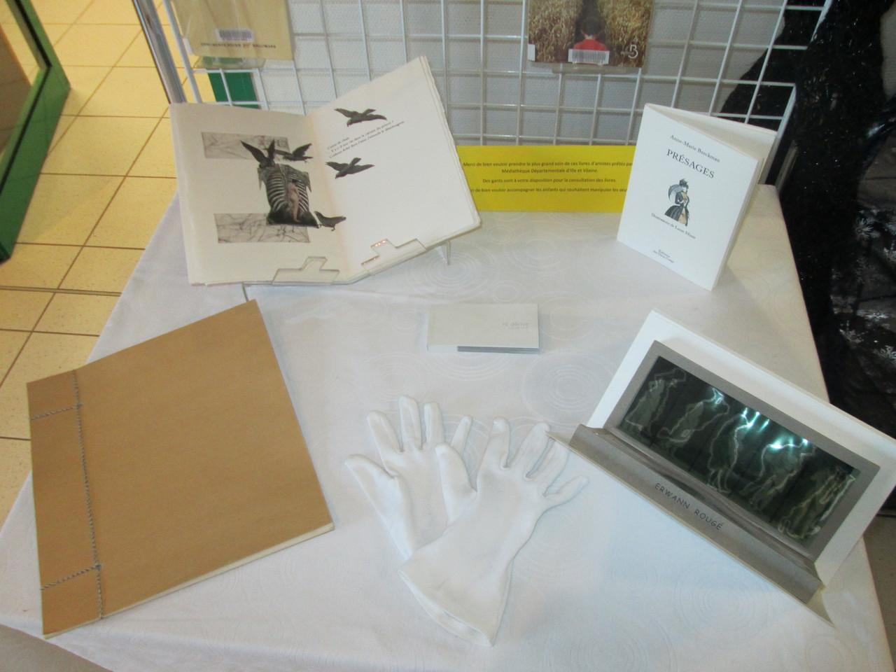Livres d'artistes présentés à la bibliothèque l'Astrolabe Talensac