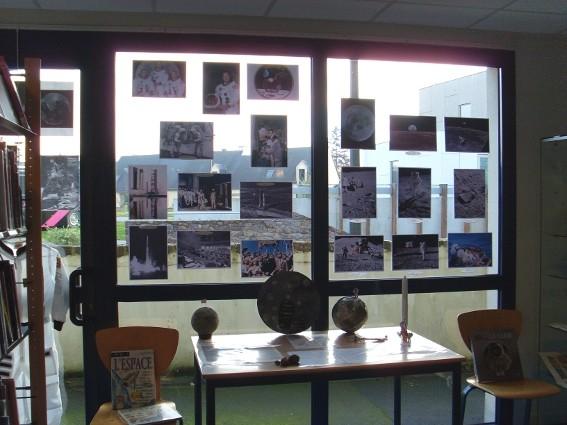 Exposition des travaux d'élèves - médiathèque de Breteil