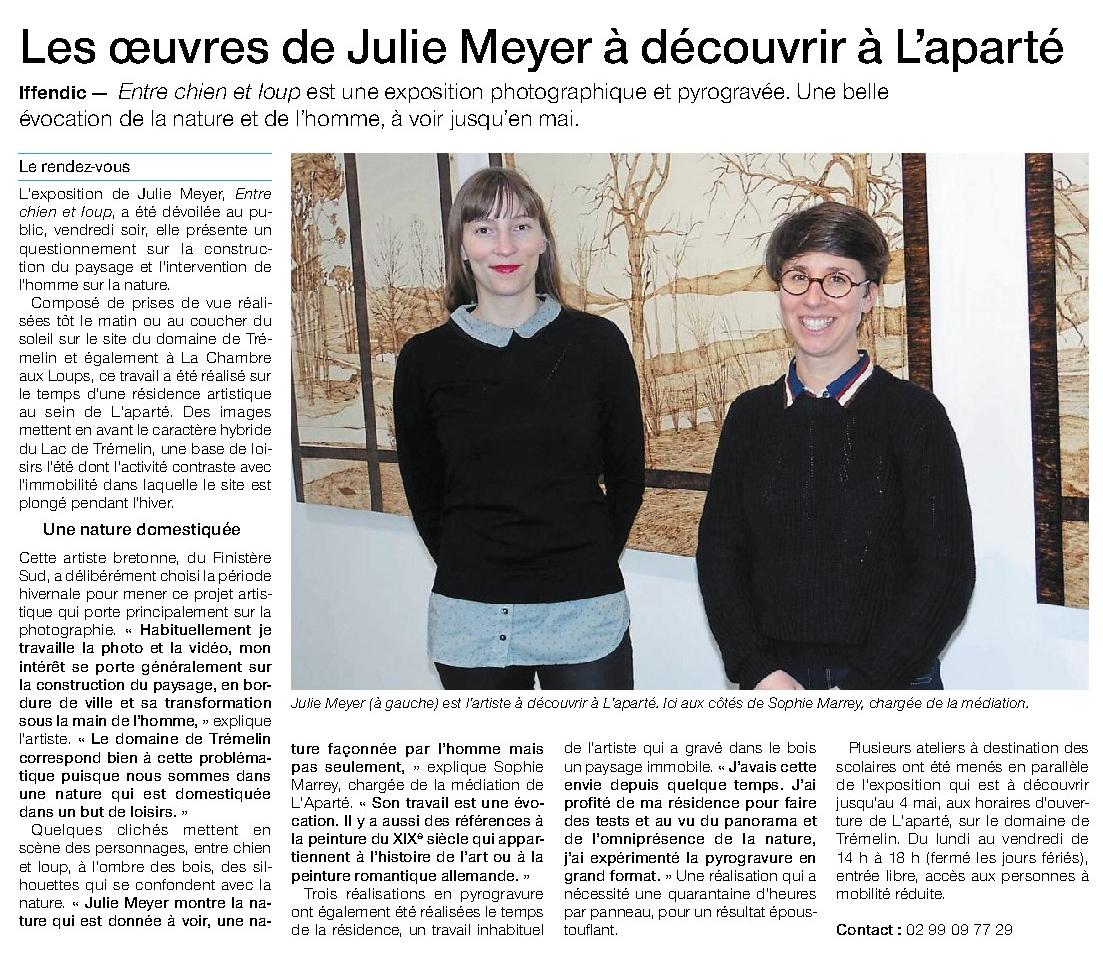 Article Ouest-France du 21 mars 2018