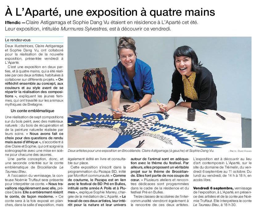 Article Ouest-France du 5 septembre 2019