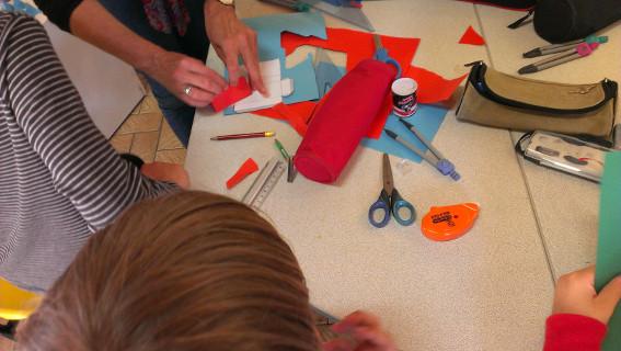 Atelier volumes - CE2 école élémentaire publique de Bédée