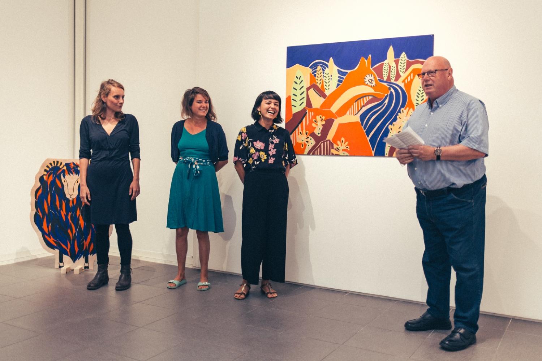 """Vernissage de l'exposition """"Murmures Sylvestres"""". Photo : Simon Détraz"""