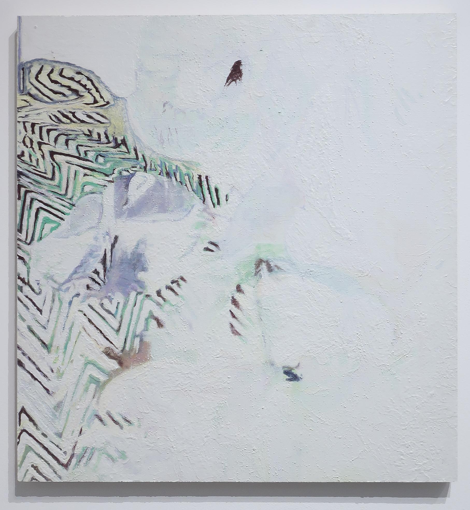Plasme, acrylique et gouache sur bois, 60 x 64 cm, 2018