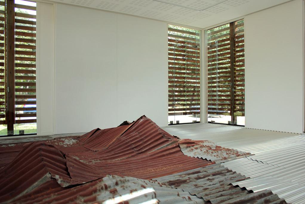 Jean-Marc Nicolas, Paysage emprunté 1 (détail), 2011. Photo : Hervé Beurel