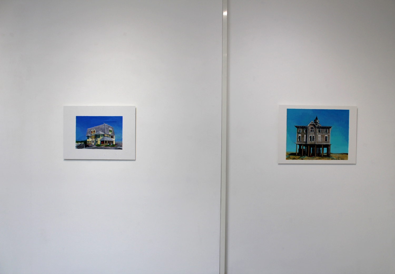 Vue de l'exposition de Julie Giraud, Motels