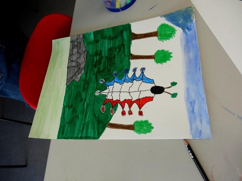 Dessin d'imagination mêlant animal/végétal/minéral
