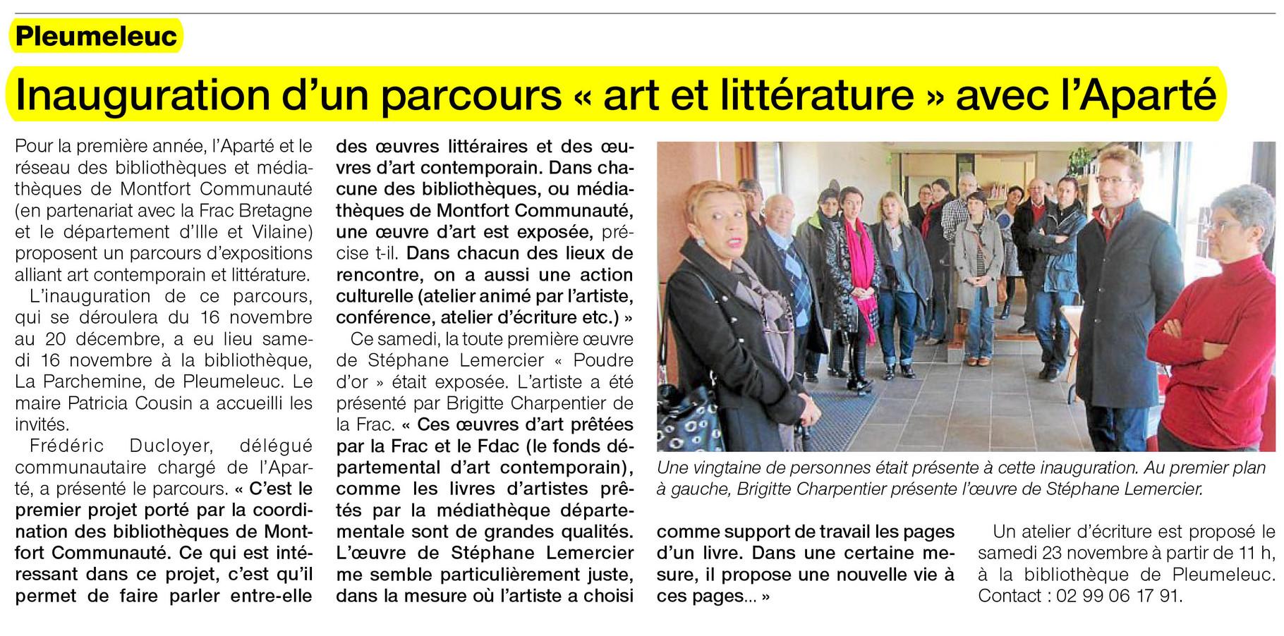 Ouest-France - 19 novembre 2013