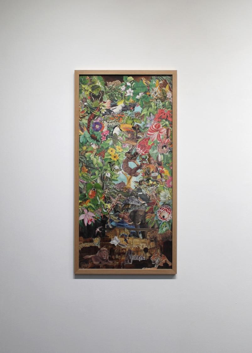 Sir John Soane's Museum, 2020. Illustrations découpées et collées sur papier, 87,1 x 43,1 cm
