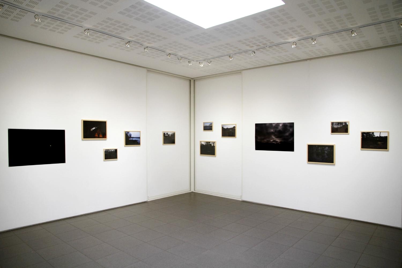 Vue de l'exposition Julie Meyer, Entre chien et loup, 2018.