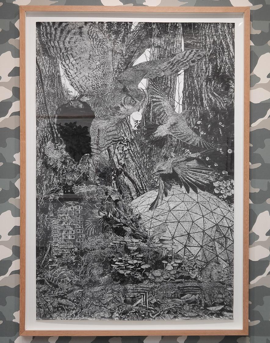 Into the Woods, 2020. Encre de Chine sur papier, 120 x 80 cm