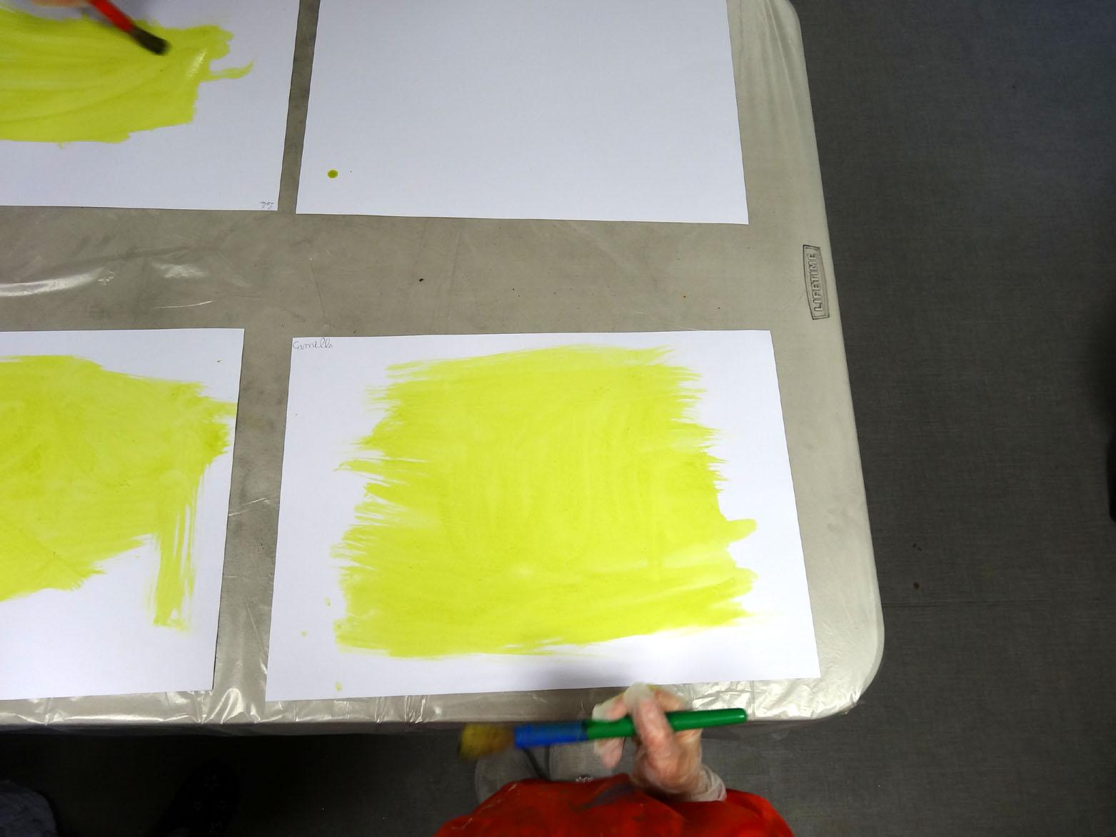 Préparation des cyanotypes