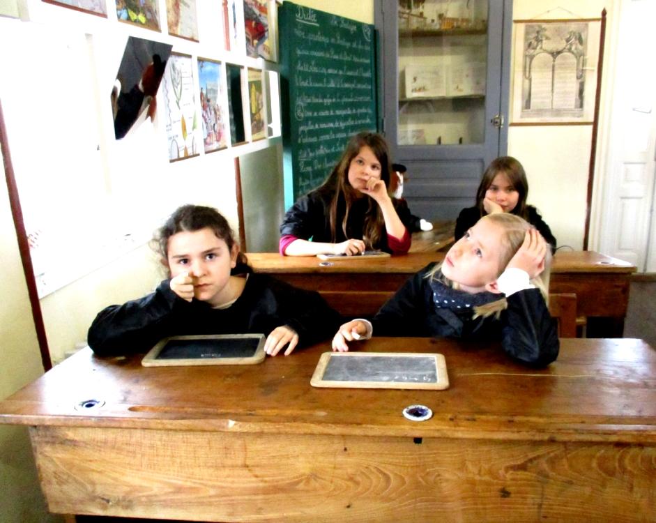 Reproduction d'images célèbres de scène de salle de classe