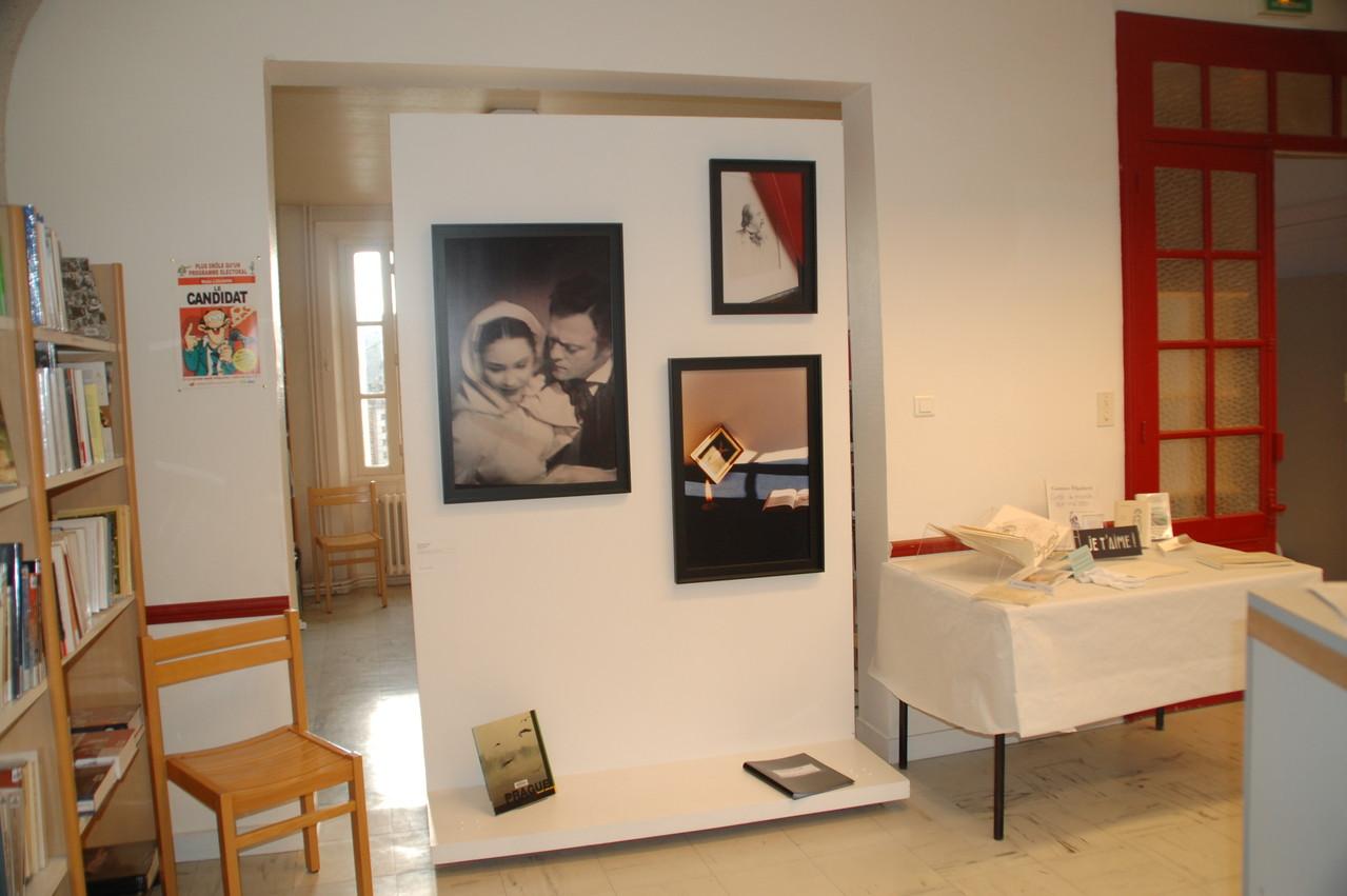 Vue d'exposition bibliothèque d'Iffendic - Madji Senadji, série Bovary, 1994/2002. Coll. FRAC Bretagne