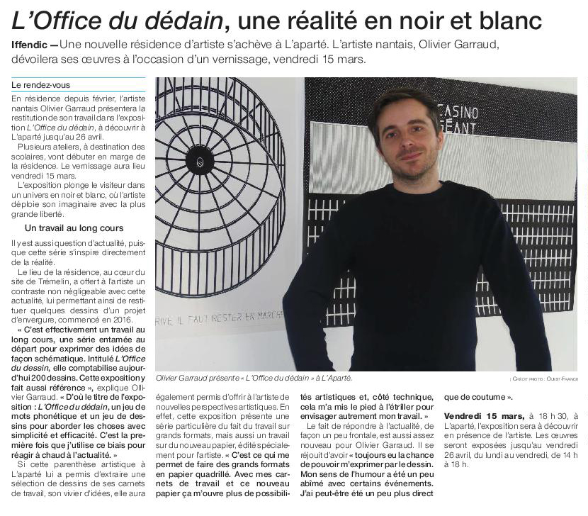 Article Ouest-France du 13 mars 2019