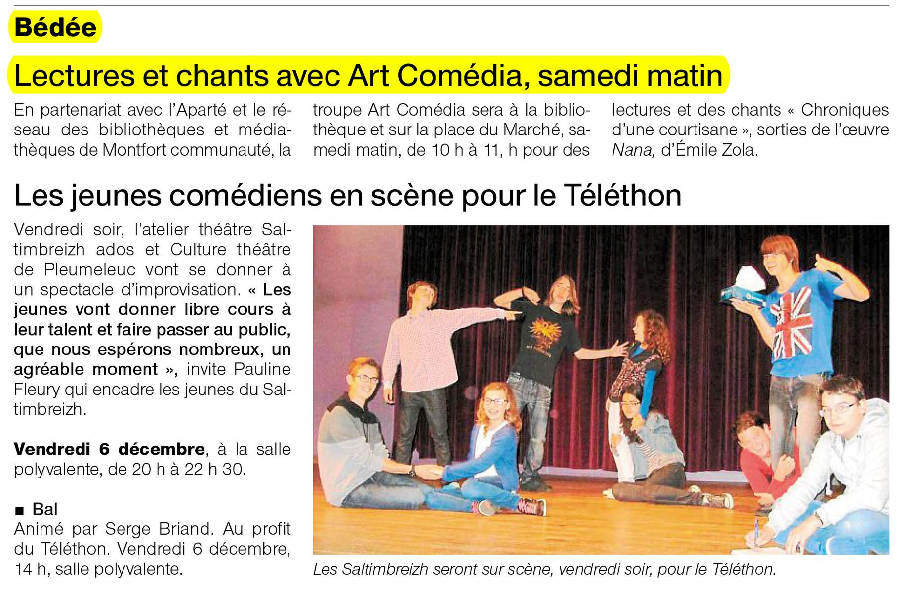 Ouest-France - 5 décembre 2013