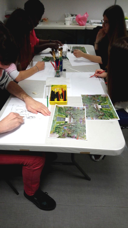 Visite-atelier - classe de Terminale Littéraire du Lycée René Cassin de Montfort-sur-Meu