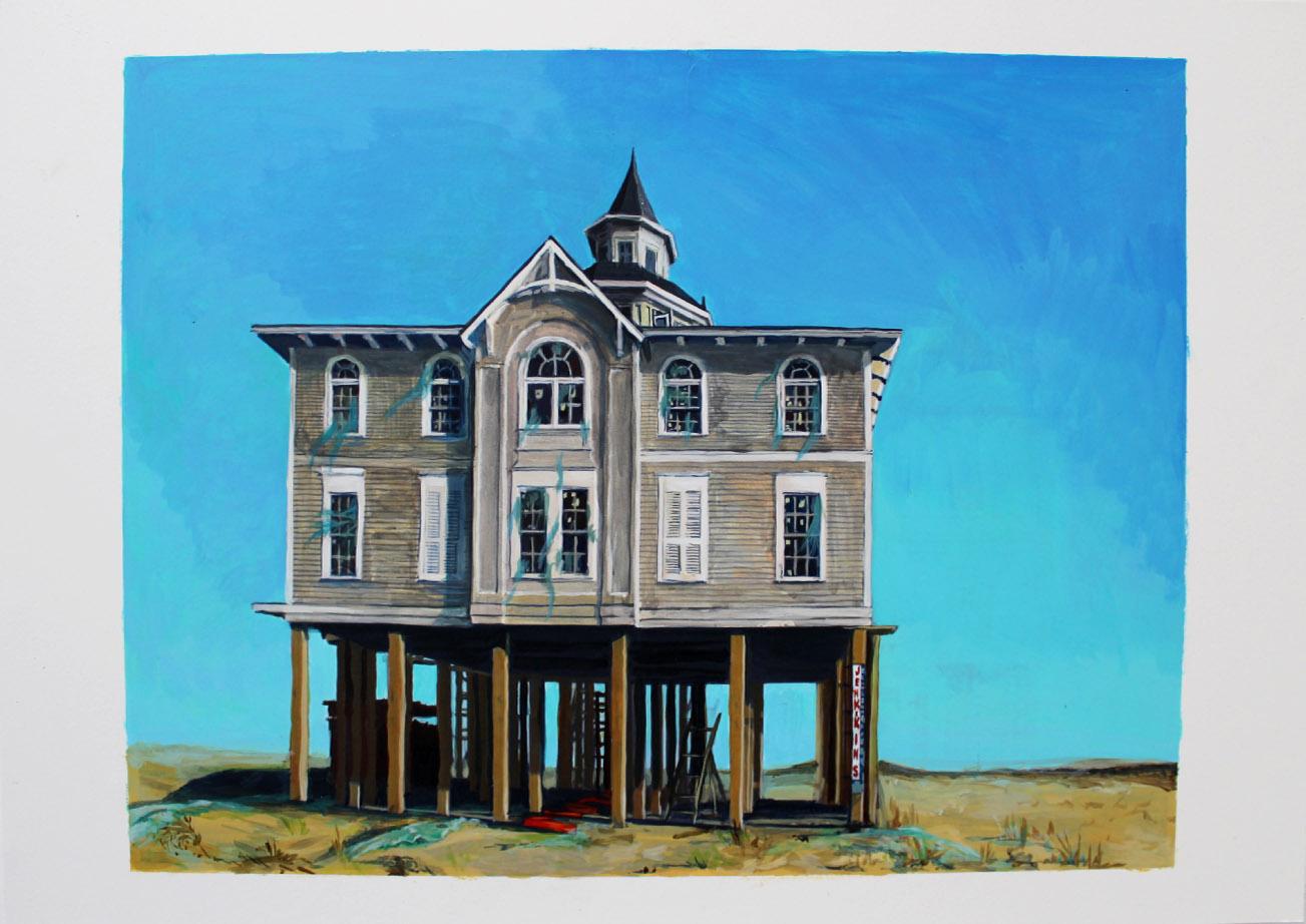Julie Giraud, Jenkins, peinture acrylique sur papier Fabriano, 65 x 47 cm