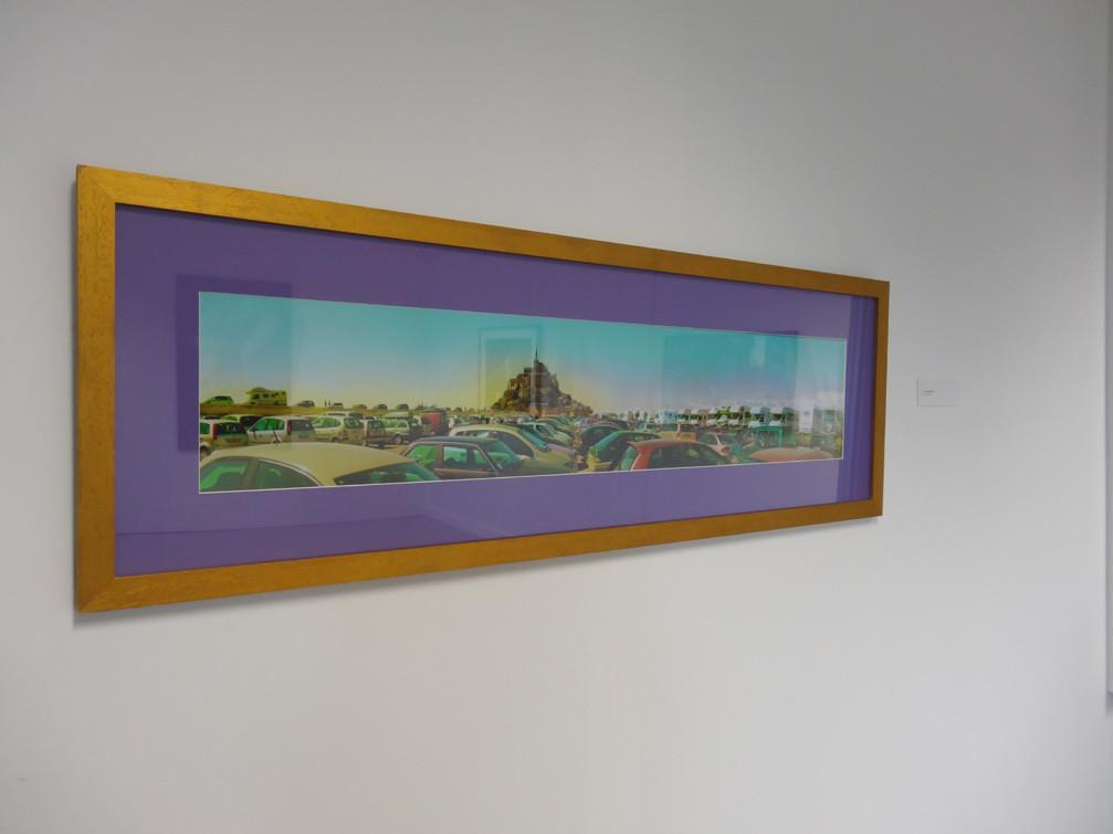 Vue de l'exposition, collège Louis Guilloux : Muriel Bordier
