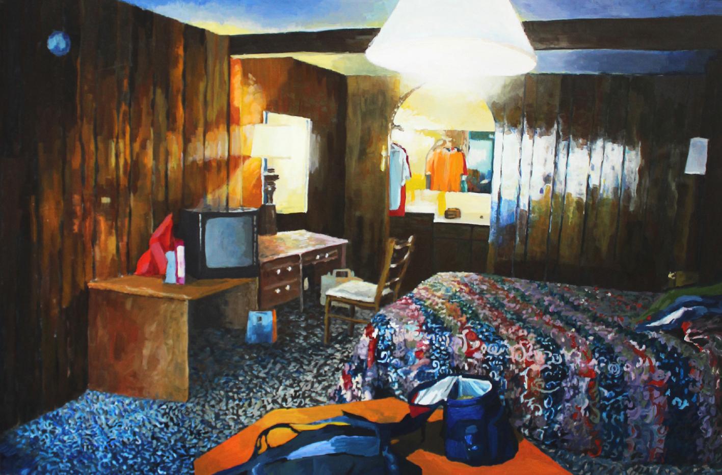 Julie Giraud, Sans titre, peinture acrylique sur papier Fabriano, 90 x 59 cm