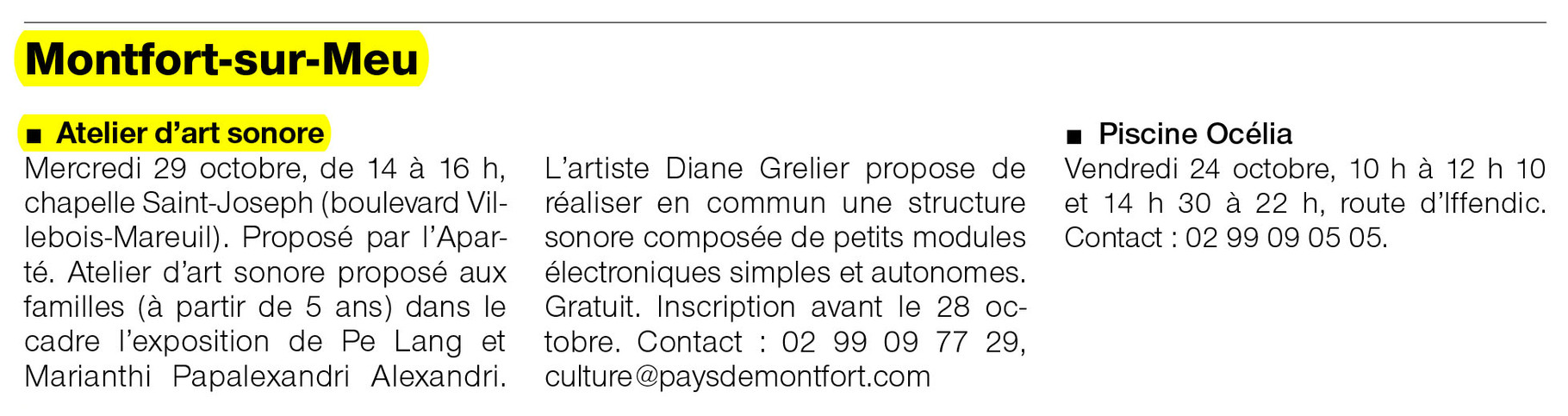 Ouest-France - 24 octobre 2014