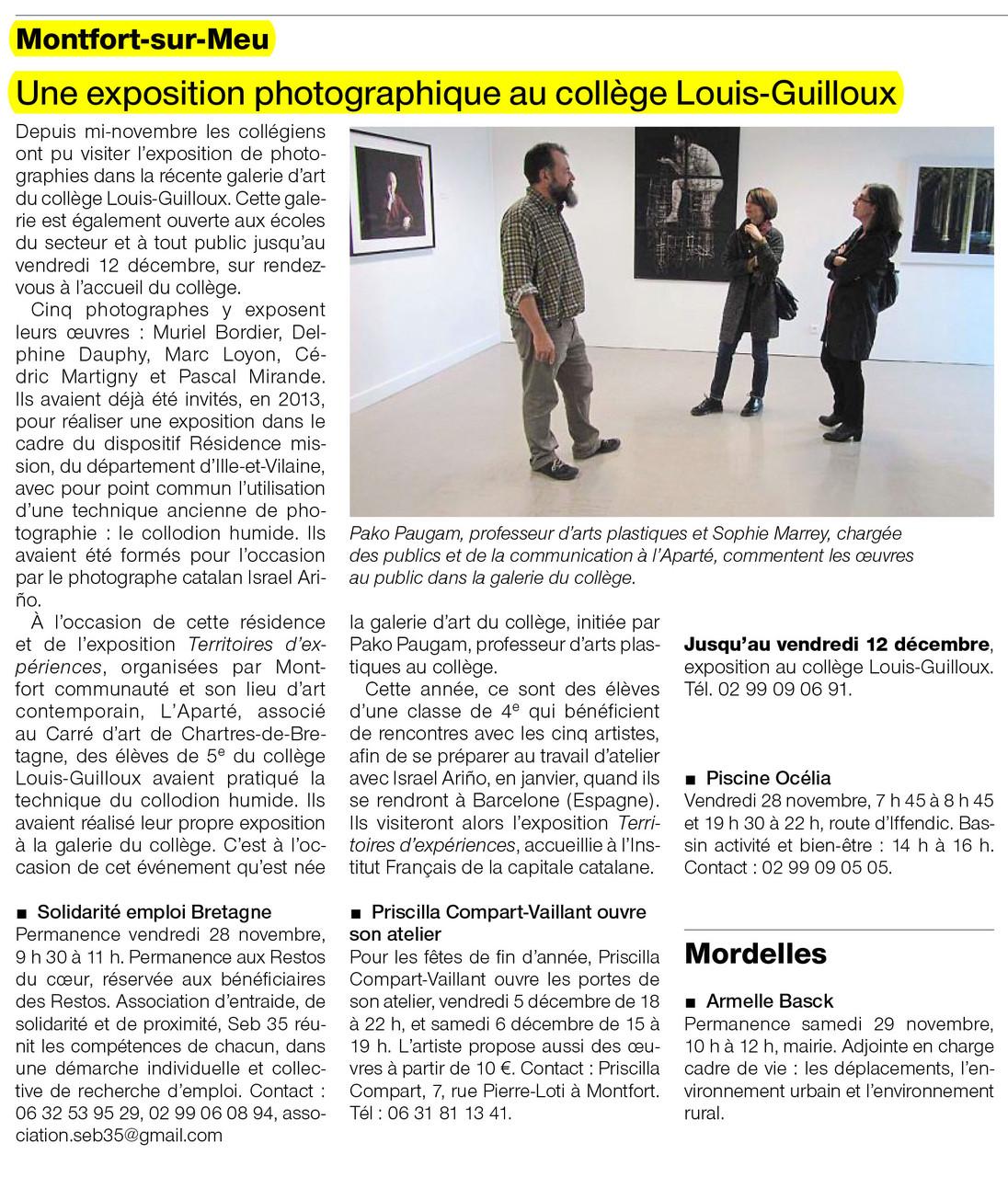 Ouest-France - 28 novembre 2014