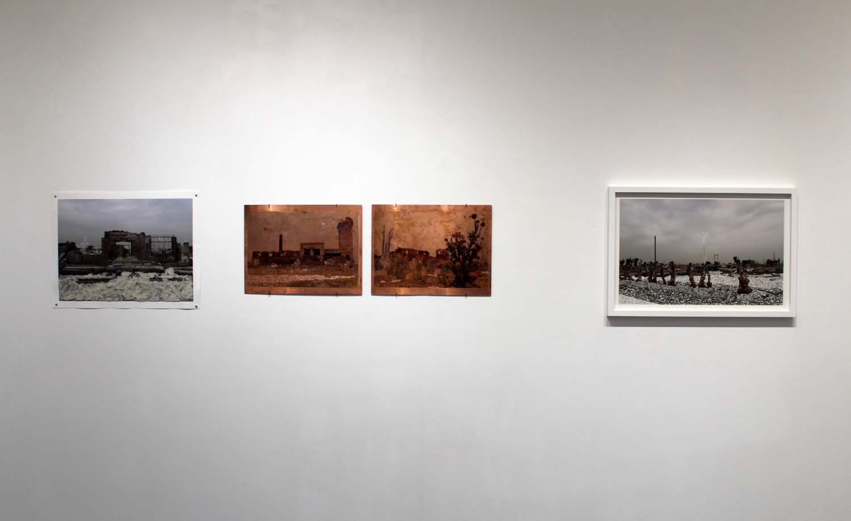 Vue de l'exposition Raphaëlle Peria, Ariditatis et inundatio