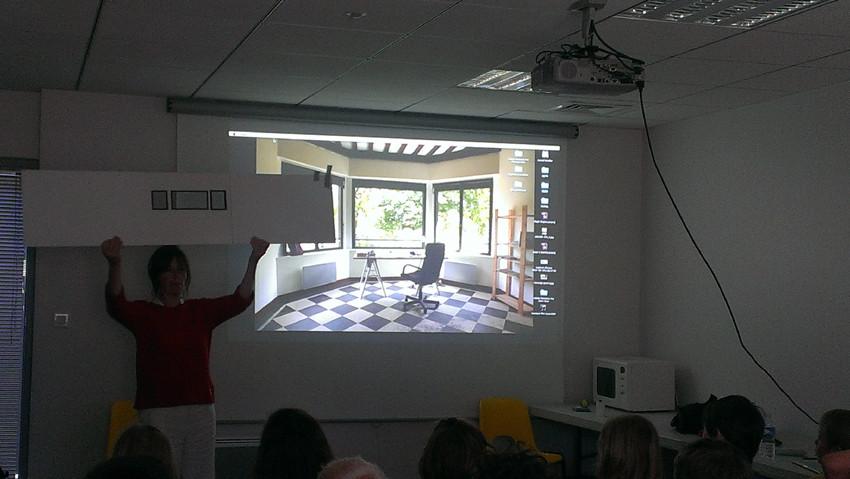 Présentation du travail de photographie, vidéo et film d'animation de Muriel Bordier et mise en place de l'atelier de l'après-midi