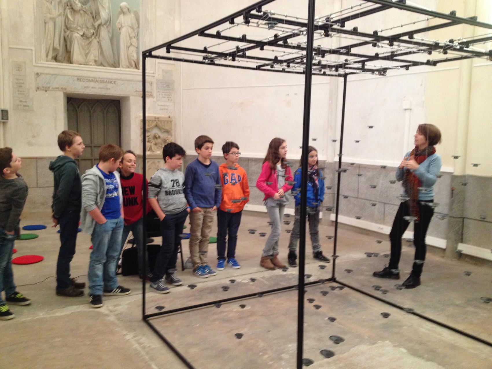 Visite de l'exposition - école élémentaire Notre-Dame, Montfort-sur-Meu