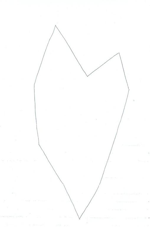 A partir du dessin n°1 retourné et placé sur une feuille cartonnée : repasser sur le contour au stylo bille noir.