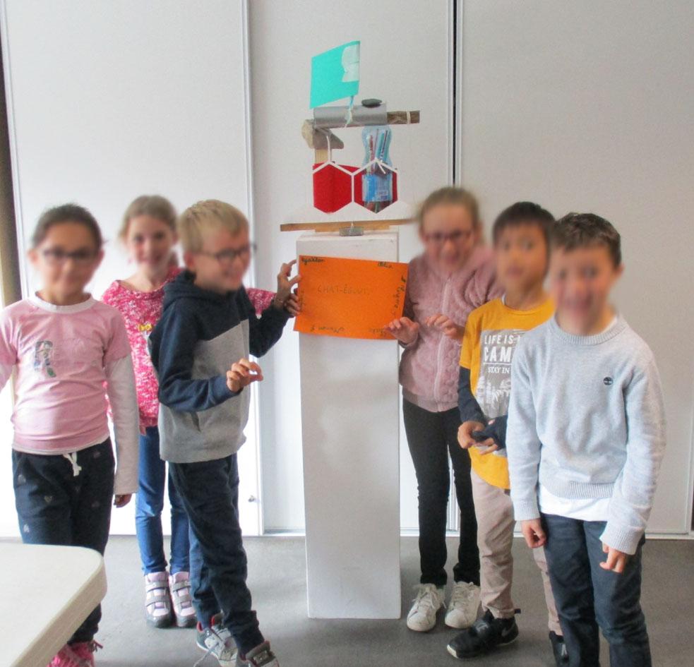 Rencontre avec une classe de CE2 de l'école Les 3 rivières de Breteil