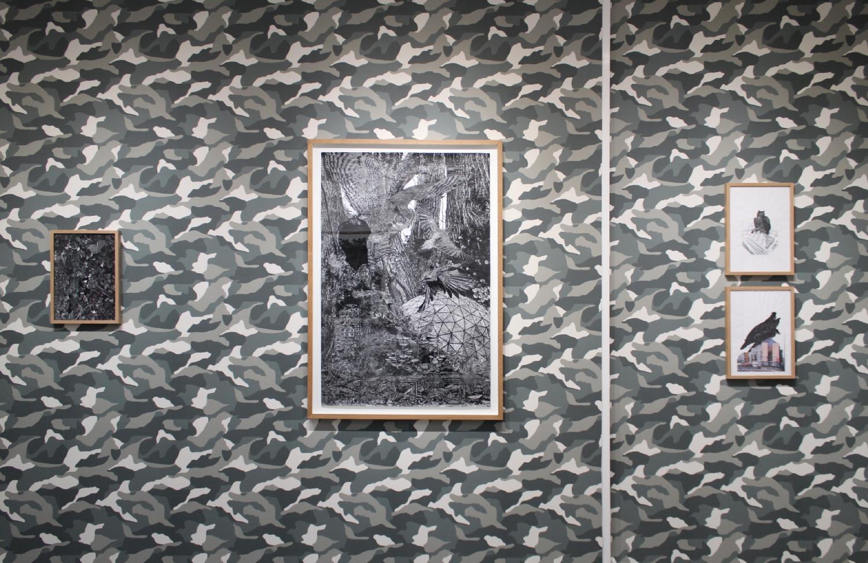 """Vue de l'exposition Quentin Montagne, """"Il est, au pays d'Hémonie, une région boisée..."""""""