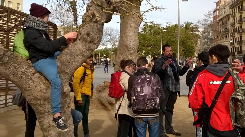 Prises de vues à la Barceloneta. Photo : Marc Thébaud