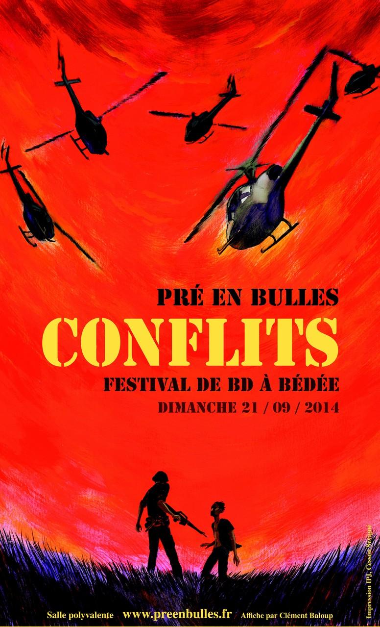 Affiche de la 6ème édition du festival de BD Pré en bulles, à Bédée