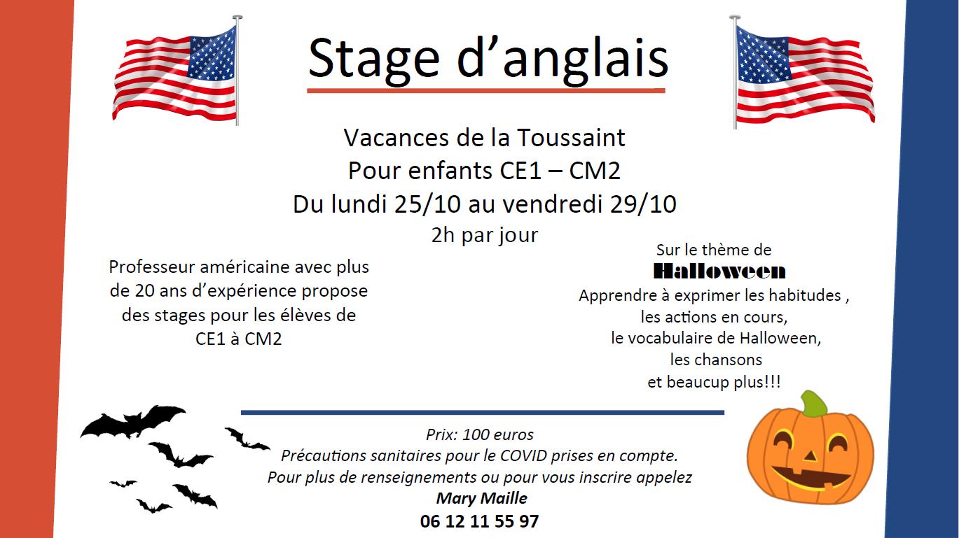 Stage anglais