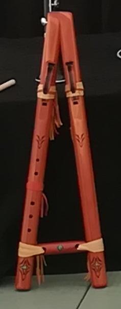 Flûte native double amérindienne