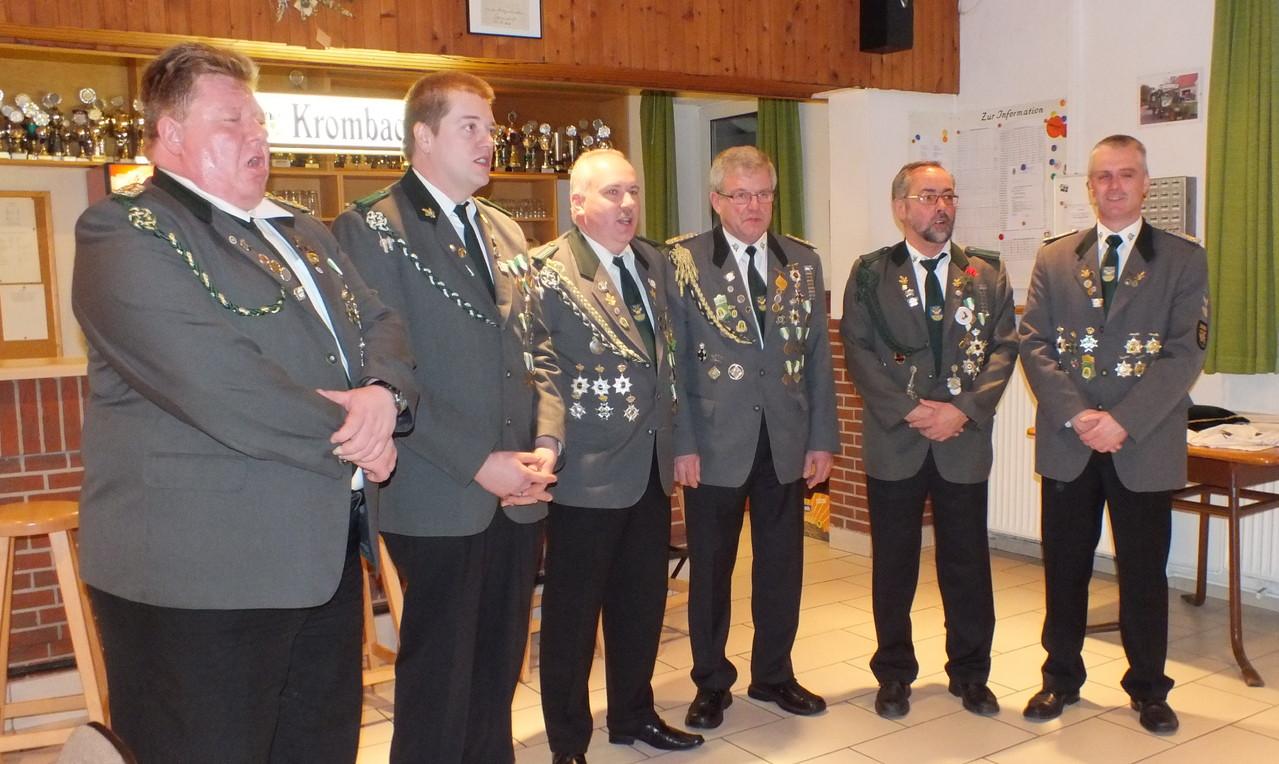 v.l.: Michael Prange, Frank von der Heide, Marco Lührs, Erfried Heidhoff, Uwe Brandt, Helmut Pick
