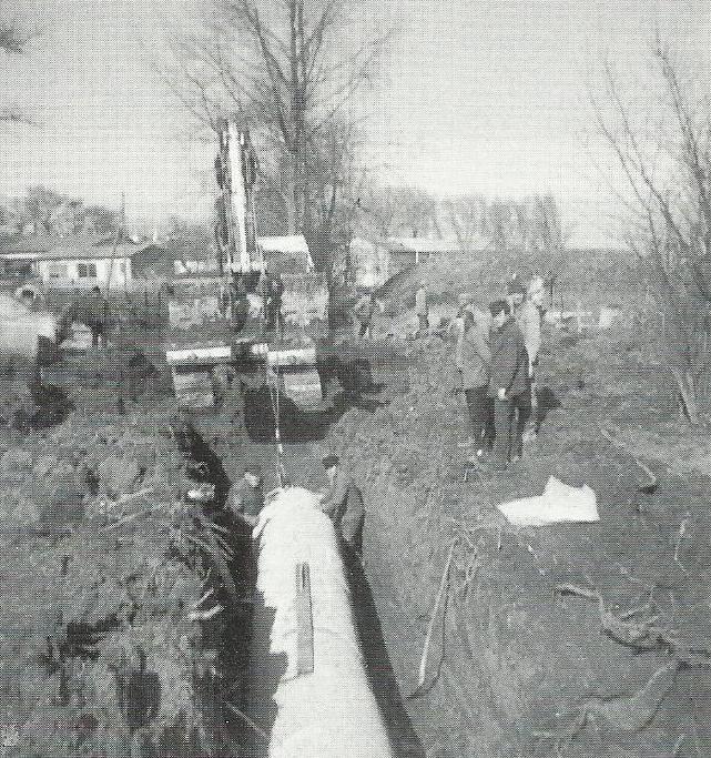 Bau der Schützenhalle 1971