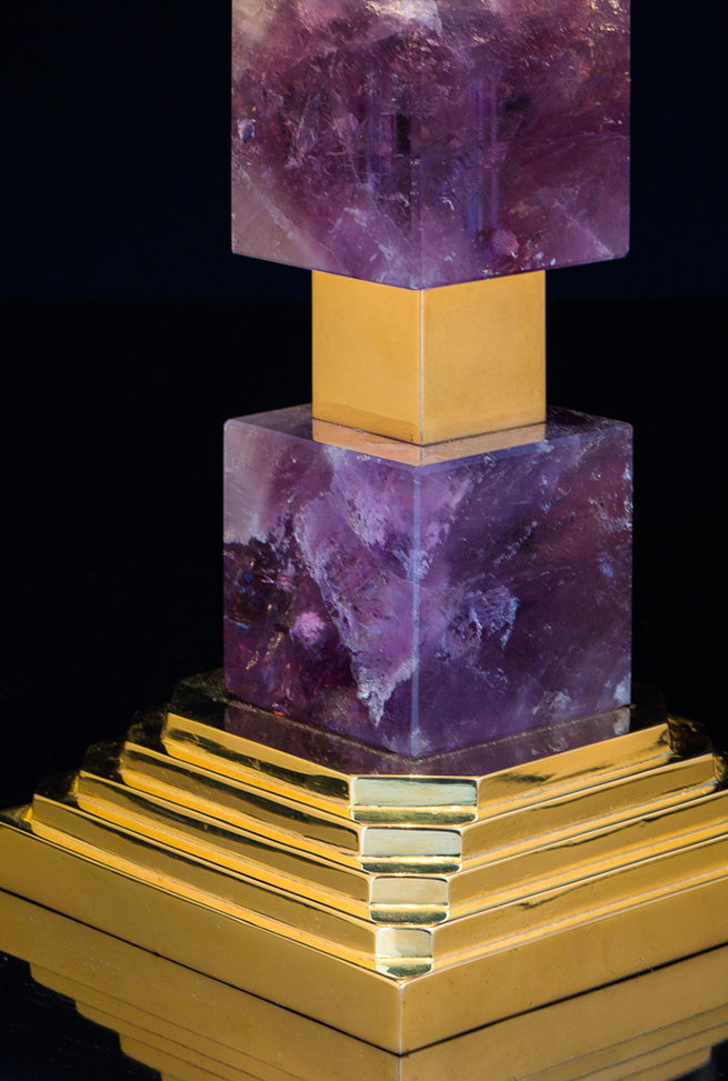 AMETHYST SQUARE LAMP GOLD EDITION