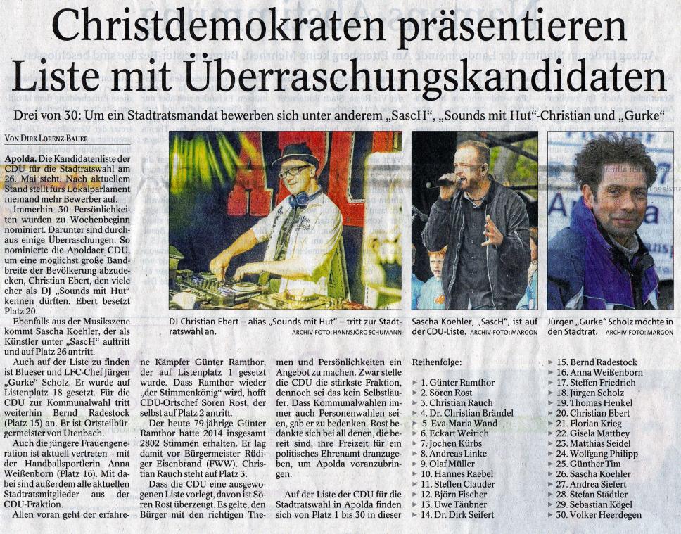 Thüringer Allgemeine vom 27.03.2019