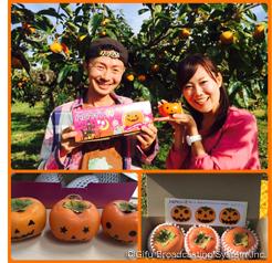 ぎふチャンで柿の宣伝