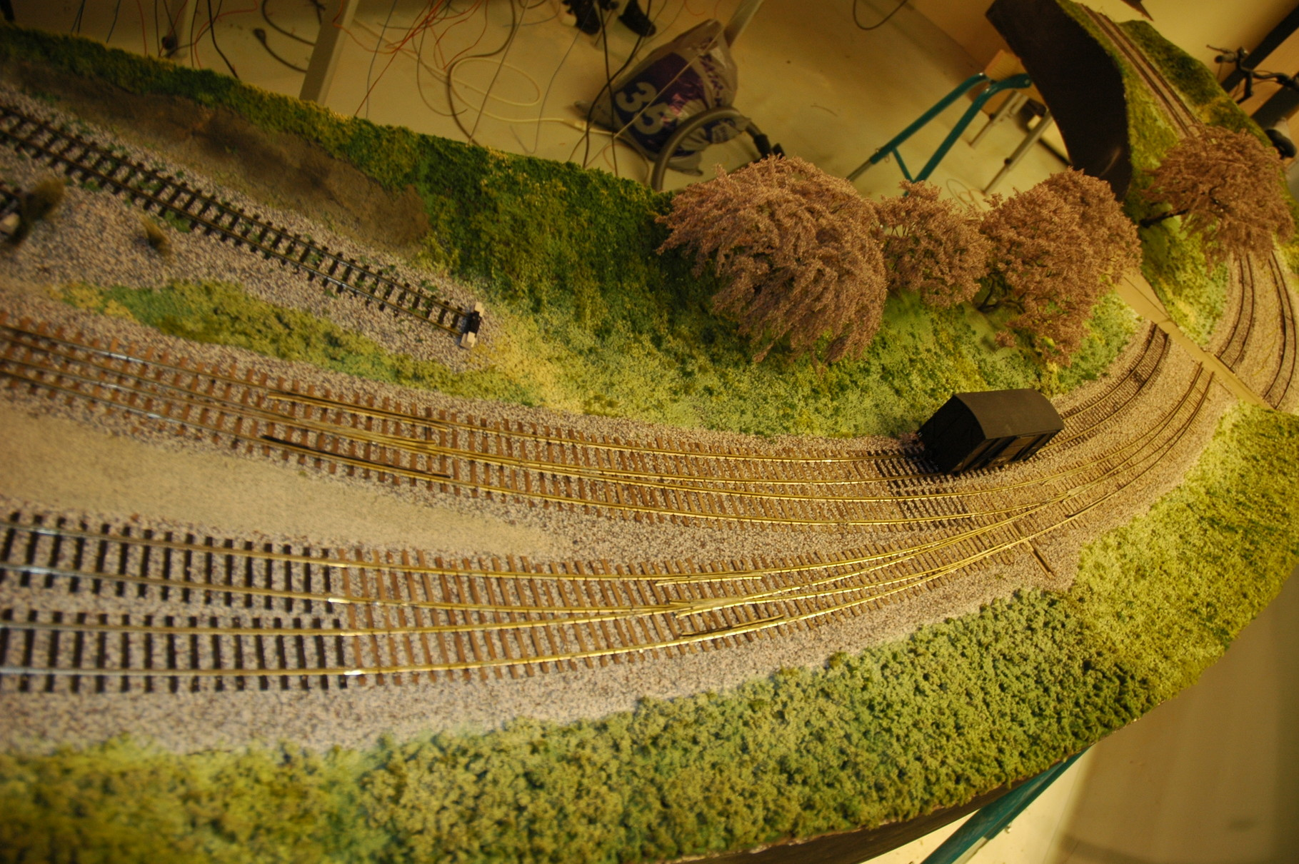 laying tracks etc. first finished section.