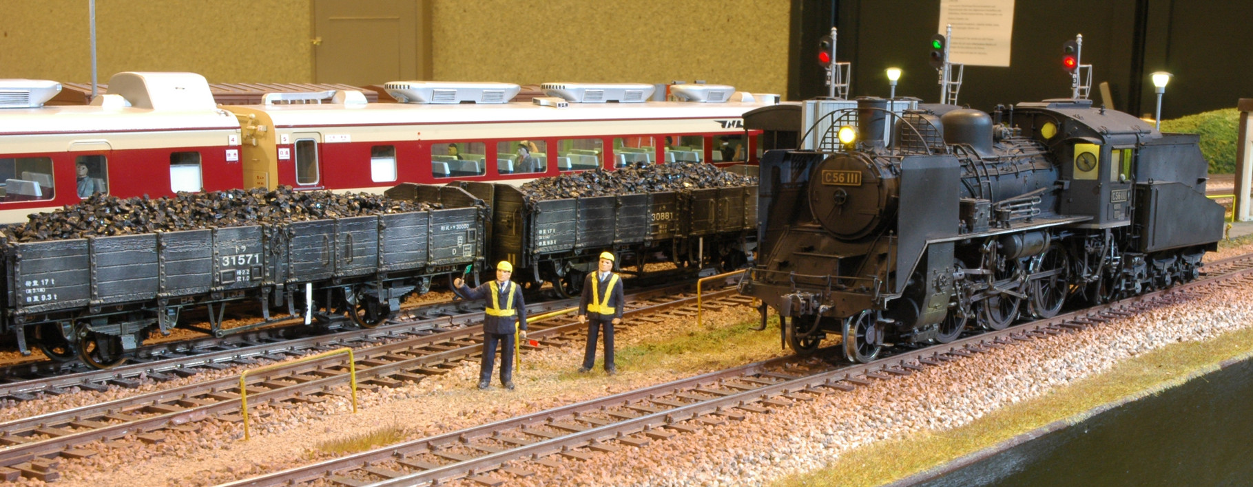 Shunters next to C56