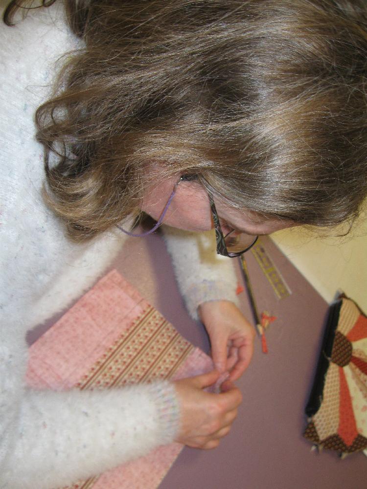 En direct d'un atelier patchwork à la boutique Lulu Coquelicot