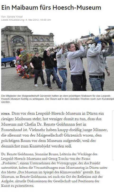 Aachener Zeitung, 2012
